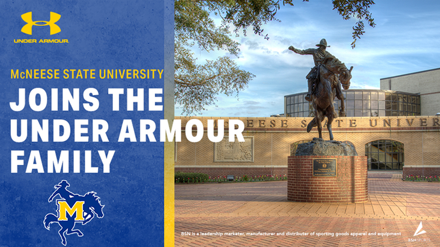 d78127d64 McNeese Athletics Partners with Under Armour and BSN Sports ...